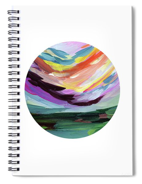Colorful Uprising 5 Circle- Art By Linda Woods Spiral Notebook