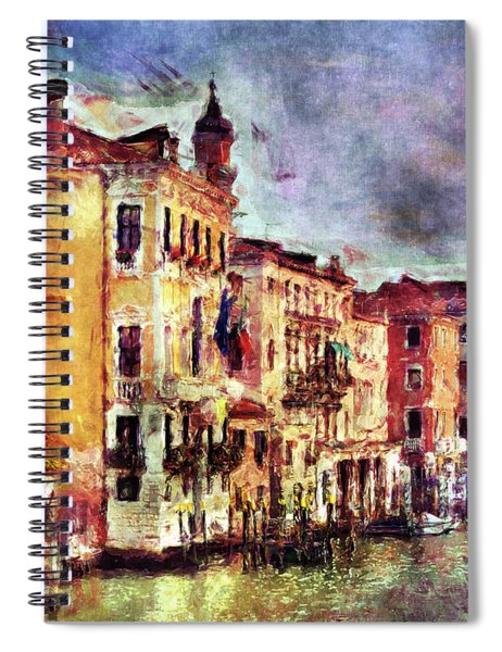 Colorful Venice Canal Spiral Notebook