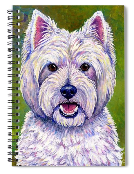 Colorful West Highland White Terrier Dog Spiral Notebook