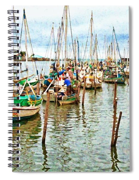 Colors Of Belize - Digital Paint Spiral Notebook