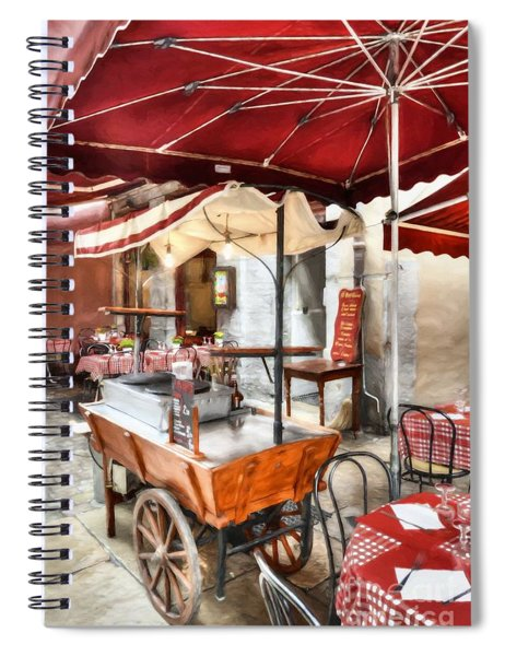 Colors Of France Spiral Notebook by Mel Steinhauer