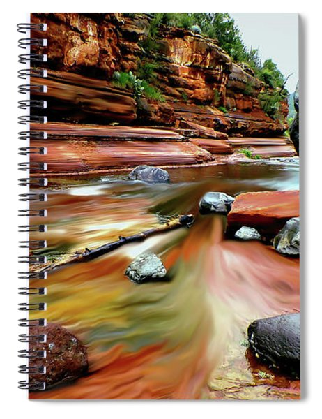 Colors Of Sedona Spiral Notebook