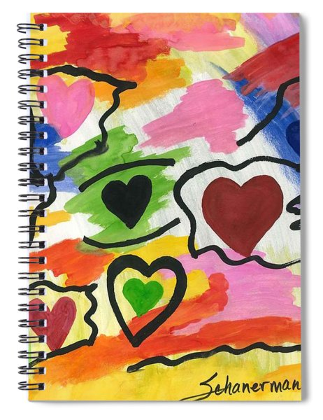 Colors Of The Heart Spiral Notebook
