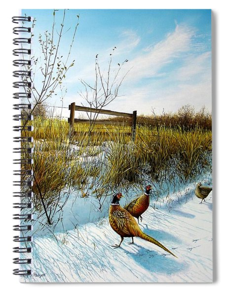 Colors Of Winter - Pheasants Spiral Notebook
