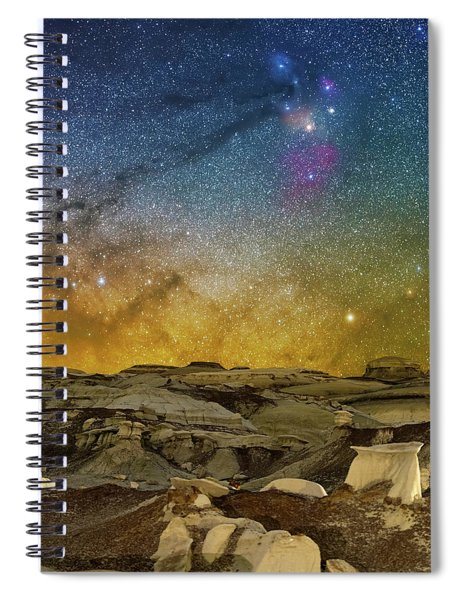 Colors On The Rise Spiral Notebook