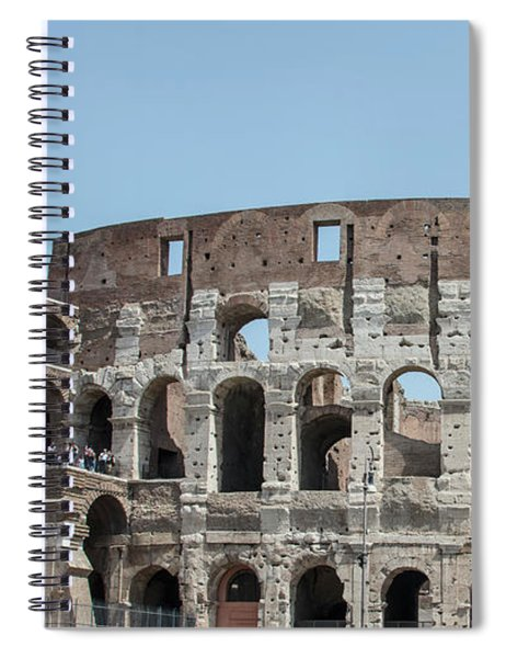 Colosseum In Rome Day  Spiral Notebook