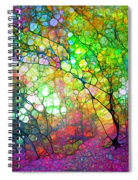 Colour Combustion Spiral Notebook