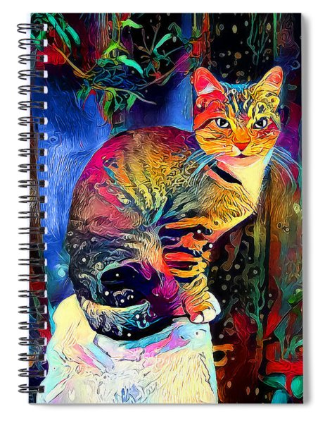 Colourful Calico Spiral Notebook