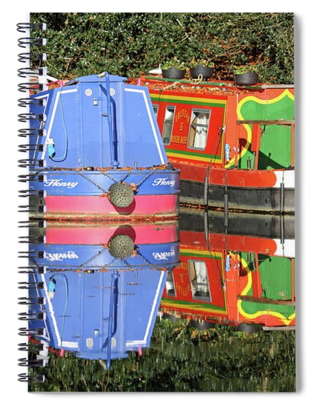 Colourful Canal Boats Spiral Notebook