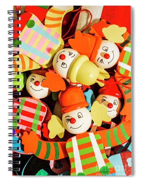 Colourful Character Clowns Spiral Notebook