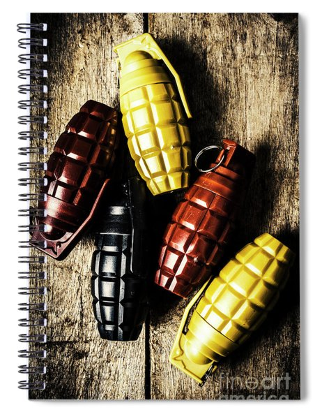 Colourful Munitions  Spiral Notebook