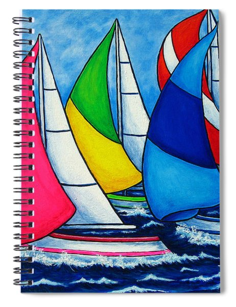 Colourful Regatta Spiral Notebook
