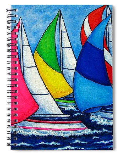 Colourful Regatta Spiral Notebook