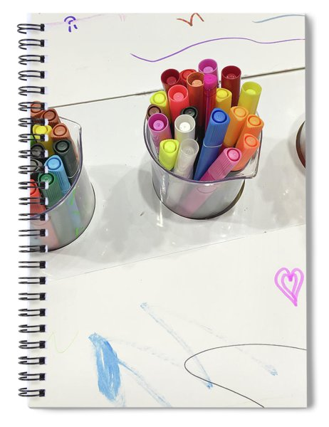 Colouring Pens Spiral Notebook