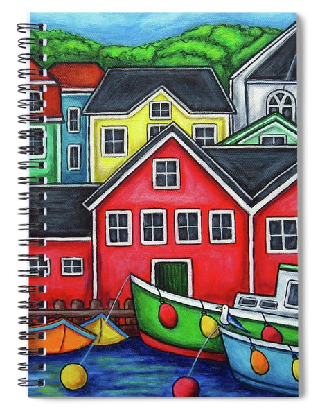 Colours Of Lunenburg Spiral Notebook