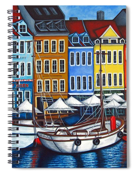 Colours Of Nyhavn Spiral Notebook