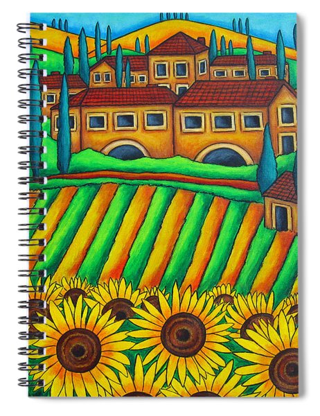 Colours Of Tuscany Spiral Notebook