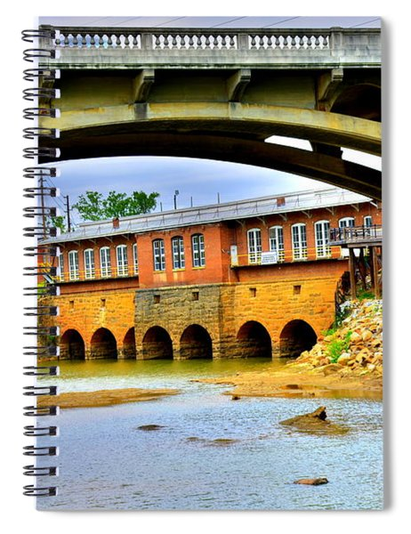 Columbia Canal At Gervais Street Bridge Spiral Notebook