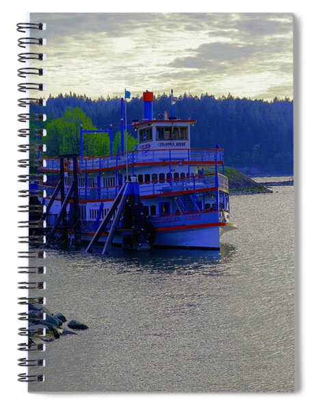 Columbia Gorge At Dock In Cascade Locks  Spiral Notebook
