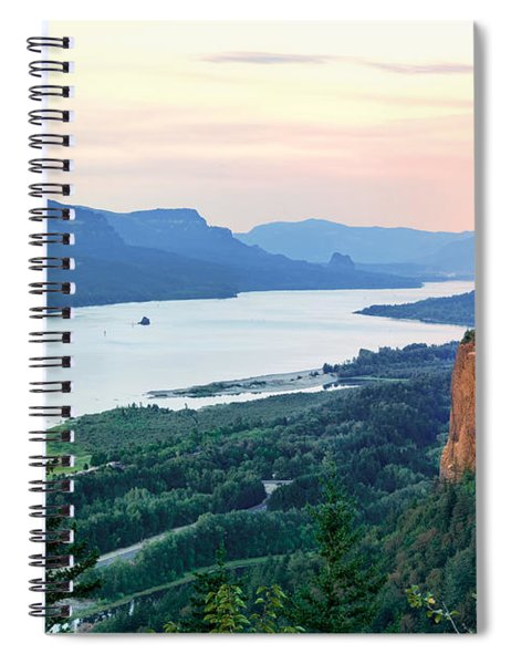 Columbia River With Vista House Spiral Notebook