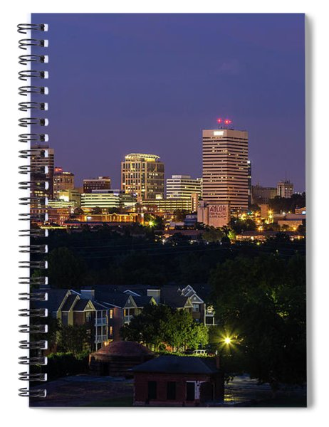 Columbia Skyline At Twilight Spiral Notebook