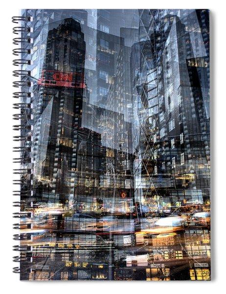 Columbus Circle Collage 1 Spiral Notebook