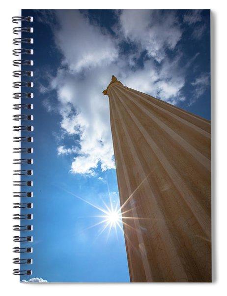 Column To Sky Spiral Notebook