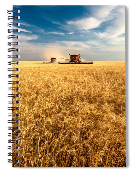 Combines Cutting Wheat Spiral Notebook