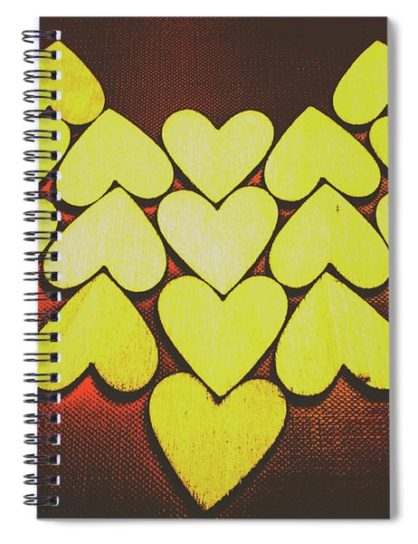 Comic Art Hearts Spiral Notebook