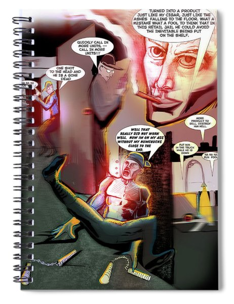 Comic Page Edit Spiral Notebook