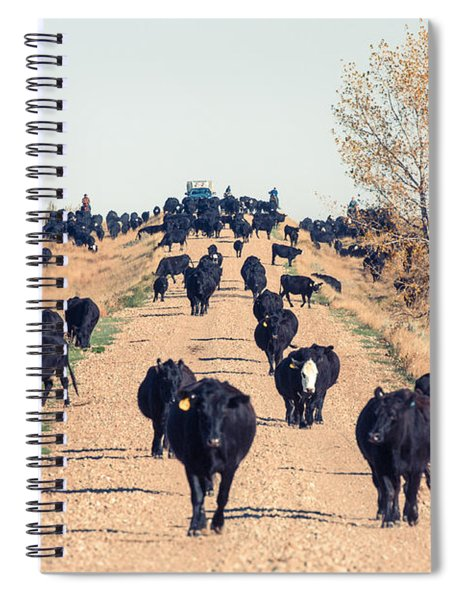 Coming Down The Road Spiral Notebook