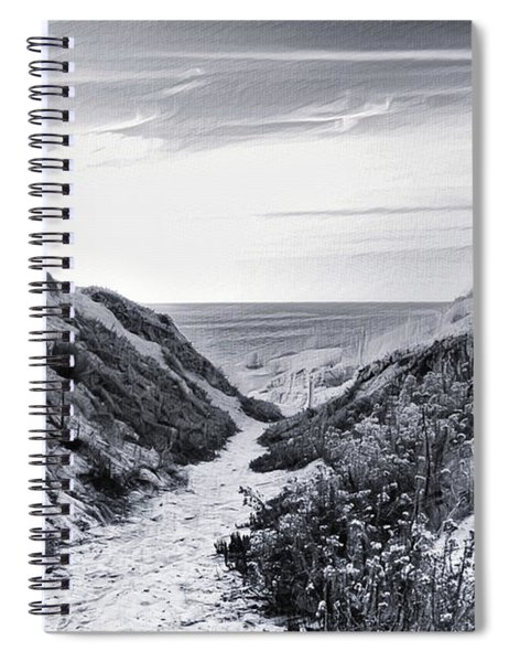 Spiral Notebook featuring the photograph Coming Through by Alison Frank