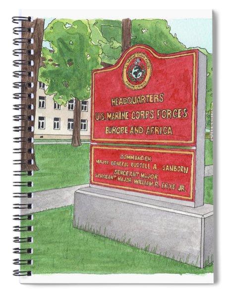 Commander Major General Russell A. Sanborn - Marforeuraf Spiral Notebook
