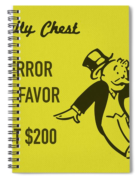 Community Chest Vintage Monopoly Board Game Bank Error In Your Favor Spiral Notebook
