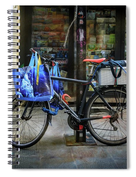 Commuter Shopping Bicycle Spiral Notebook