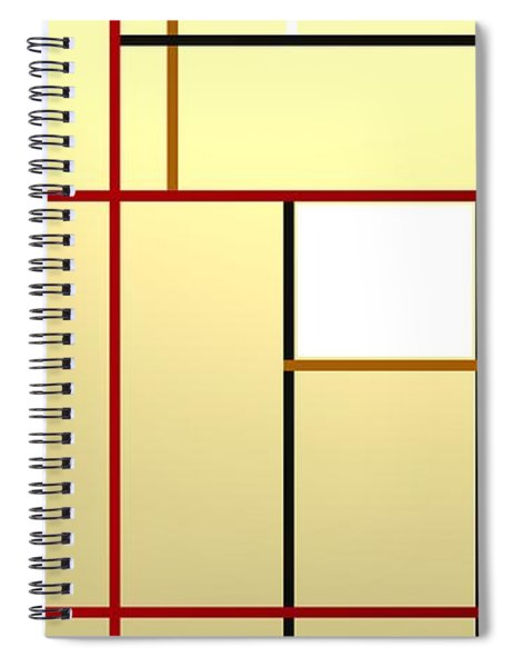 Composition With Black Lines.1 Spiral Notebook