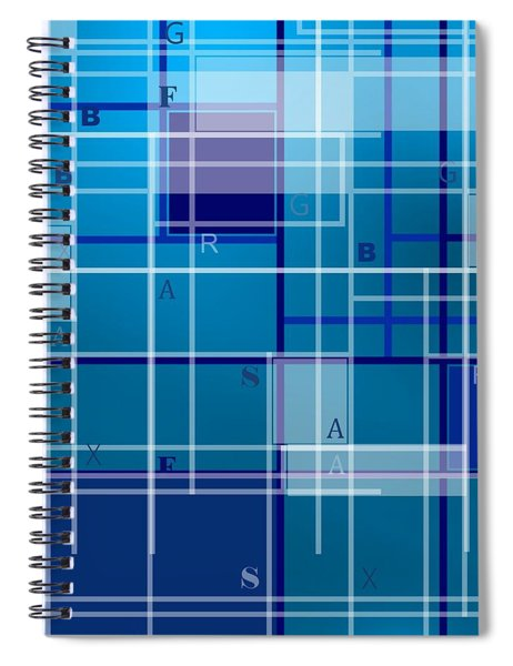 Composition With Letters Spiral Notebook