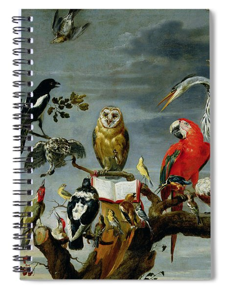 Concert Of Birds Spiral Notebook