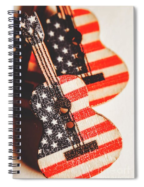 Concert Of Stars And Stripes Spiral Notebook