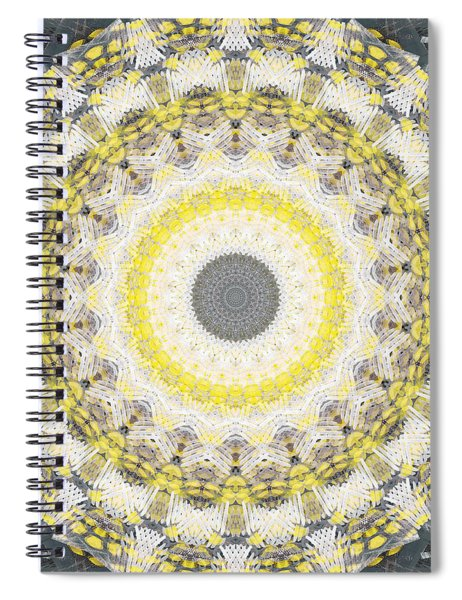 Concrete And Yellow Mandala- Abstract Art By Linda Woods Spiral Notebook