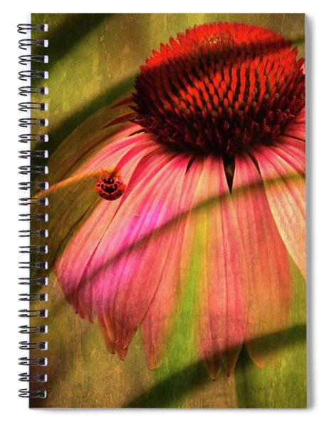 Cone Flower And The Ladybug Spiral Notebook