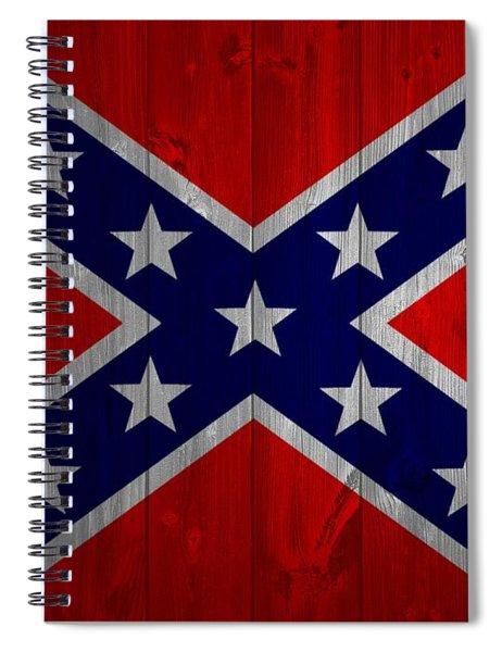 Confederate Flag Barn Door Spiral Notebook