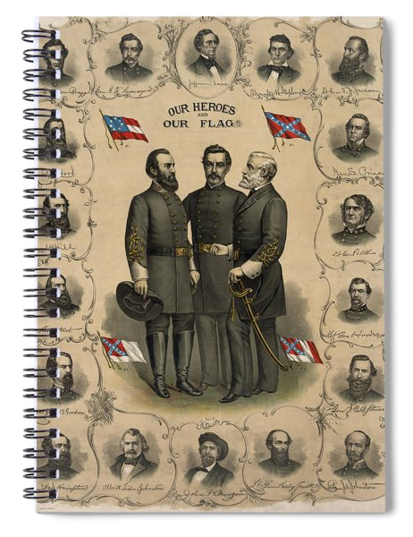 Confederate Generals Of The Civil War Spiral Notebook