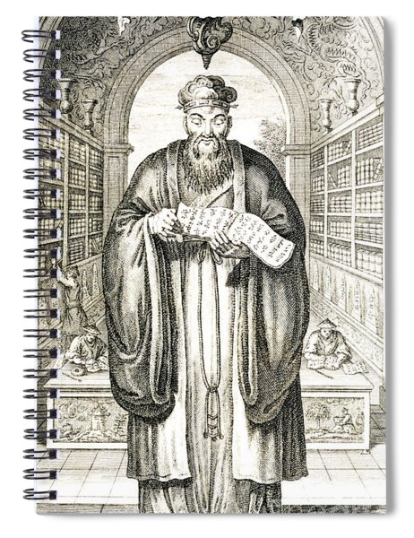 Confucius In A Library Spiral Notebook