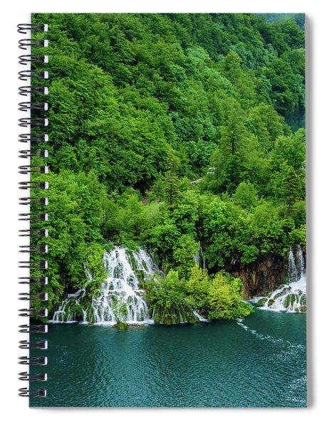 Connected By Waterfalls - Plitvice Lakes National Park, Croatia Spiral Notebook