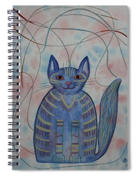 Connection Cat  Spiral Notebook