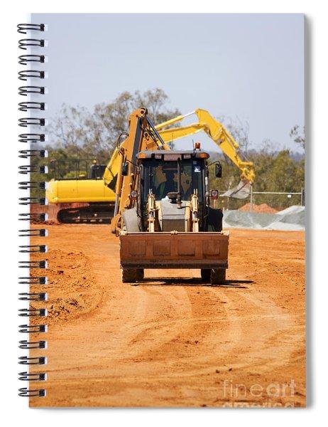 Construction Digger Spiral Notebook