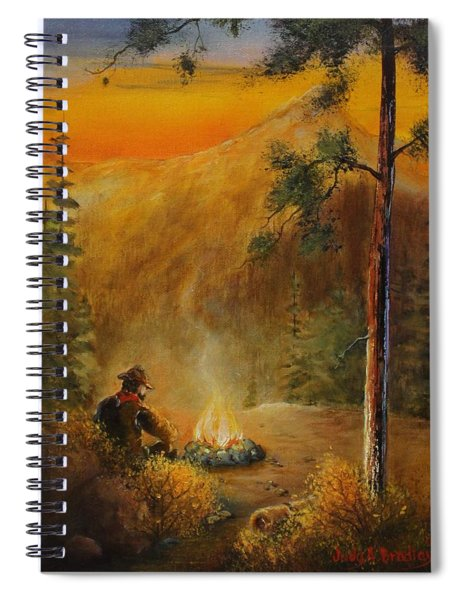 Contemplating The Journey Spiral Notebook