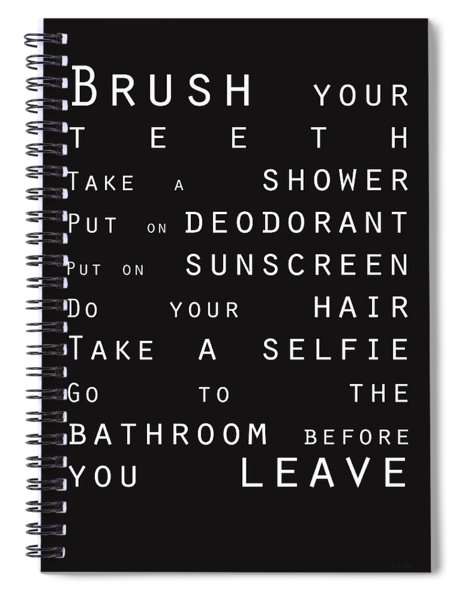 Contemporary Bathroom Rules - Subway Sign Spiral Notebook