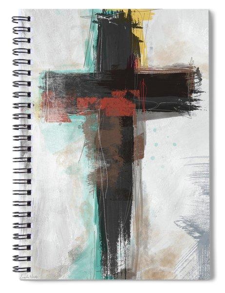 Contemporary Cross 1- Art By Linda Woods Spiral Notebook